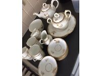 Vintage Rockingham Style Gold Decorated Tea set