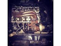 Saxo vts 106 gti turbo , manifold and downpipe
