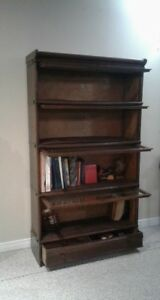 Antique Macey Oak Sectional Bookcase , 4 section & base& top