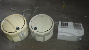 Air filters (20 each for round ones, 15 for small one)