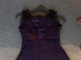 Purple brides maids dress