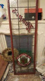 MAN UTD FANS STAINED GLASS CUSTOM MADE ONE OFF....