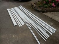 Electrical conduit and trunking.