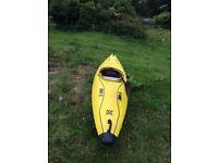 Corsica 1 man kayak and paddle - yellow
