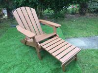 Costco Folding Adirondack Chair With Ottoman - Damaged