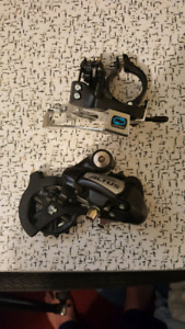 NEW SHIMANO ATLUS DERAILLEURS REAR AND FRONT 3X8