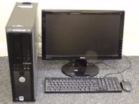 Dell computer, monitor, keyboard and mouse