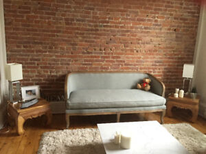 Causeuse canapé divan fauteuil sofa 3 places