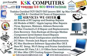 PC Apple Computer Service Virus Clean LCD Repair Data Recovery