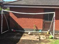 Goal posts with net for sale