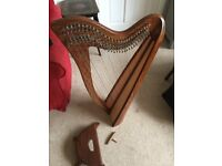 Harp (28 strings) - I think it's a Celtic harp - in brand new condition