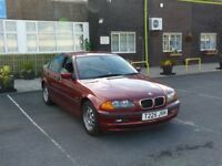1999 BMW 3 Series 1.9 318i petrol SE 4door Saloon red 12 Months MOT CLEAN CAR SOME PAPER WORK