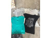 4 x t-shirts, 2 x size 6 and 2 x size 8, Topshop and Next, £3 for all, Redruth