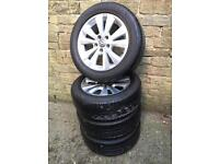 Volkswagen Golf MK7 genuine x4 Toronto alloy wheels with Bridgestone tyres