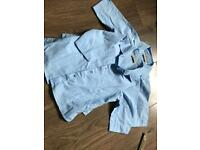 School uniform girl blue 3/4 sleeve shirts (2)