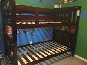 Bunk beds with Sears o pedic mattresses