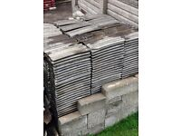 "Approx 600 used Redland concrete roof tiles (15x9"") - 20p each"