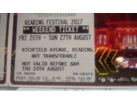 Reading Festival weekend ticket 25-27 Aug 2017 for sale