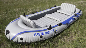 Intex Excursion 5 Inflatable Boat/Raft/Bateau Gonflable