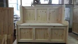 4ft 3 panel bench with under seat storage READY NOW