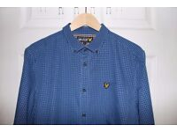 Lyle and Scott Checked Shirt (Blue, Large) (READ DISCRIPTION, NOT £2)