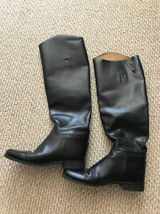 Black Amazonas 10W leather riding boots