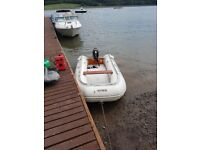 Suzumar 15ft inflatable boat with 6hp engine