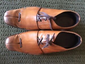 Brown leather shoes size 12