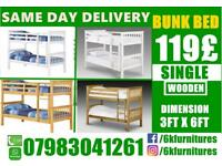 Brand NEw BRAND NEW WOODEN BUNK BEDDING BASE SINGLE DOUBLE FRAME AVAILABLE