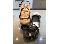 Hauck Malibu xl all in one travel system, Pram, car seat, cosy toes and carry cot, good condition