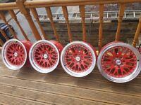 alloys wheels stuttgart st5 16 inch 8j 4x100 deep dish vw lupo mx5 honda bmw toyota mazda