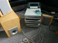 Pioneer hifi seperates XC-L7 + CT-L7 + MJ-L7 mini disc tuner cd cassette vintage