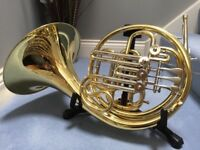 Compensating French Horn Bb/F in Lacquer - almost new, in pristine condition