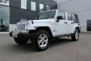 2013 Jeep WRANGLER UNLIMITED SAHARA PLUS 4X4 *CUIR/NAV/2TOITS*