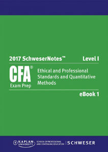 CFA Schweser 2017 Study Notes, Exams, Videos and Question Bank