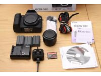 Canon EOS 50D DSLR Camera Body & EF 50mm ii - Battery's, CF card, box, leads
