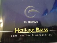 BRAND NEW Heritage Brass Chelsea Polished Chrome Mortice Knobs 62mm (concealed)