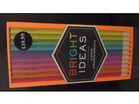 Bright Ideas 10 Neon Coloured Pencils