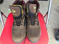 Dunlop UK size 10 Dark Brown Still Toe Work Boots, Nearly New £20 No Offers