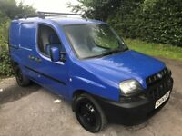FIAT DOBLO 1.9 JTD ONLY ONE OWNER FROM NEW WITH TWO SIDE LOADING DOORS,FULLY PLY LINED WITH BULKHEAD