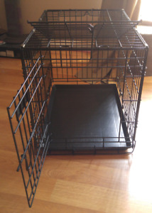 Large dog crate.