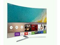 "Samsung UE78KU6500 78"" Curved 4K HDR Ultra-HD Smart LED TV 1600 PQI Silver screen mirror."