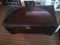 Wooden carved shanghai blanket box chest