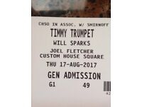 Timmy trumpet ticket for sale belsonic 2017