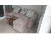 Huge 3 Seater Corner Sofa With Leg Foot Rest Couch Only 6 Months Old Extremely Comfortable