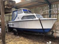 Project boat and trailer for sale