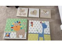 Canvas pictures baby room from Next