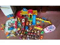 Fisher Price Little People Train, Garage and Bus Bundle