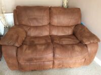 3 seater sofa, 2 seater sofa & foot stall with storage