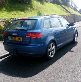 Audi A3 2.0Tdi Quattro 180bhp Blue 2008.